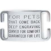 Leash Boss Pet ID Tag for Dog and Cat Collars - Personalized and Engraved Custom Identification Tag - Boomerang Tags - Silent, Durable, and Will Not Fall Off (3/4 Inch Collars)