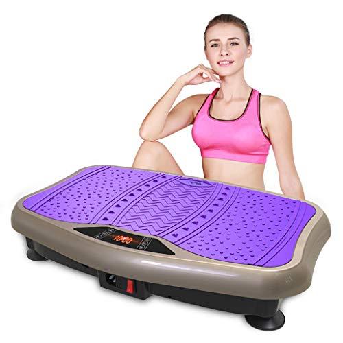 SHGK Gym Professional Fitness Entrenador Vibraciones Unisex, Control Remoto 99 Niveles Velocidades para Perder Grasa Gym, Oficina Hogar