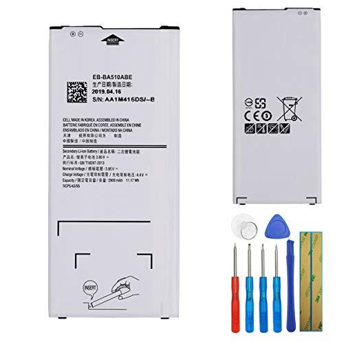 E-yiviil EB-BA510ABE - Batería de repuesto compatible con Samsung Galaxy A5 A510, A5100 y 2016 (2900 mAh, con herramientas)