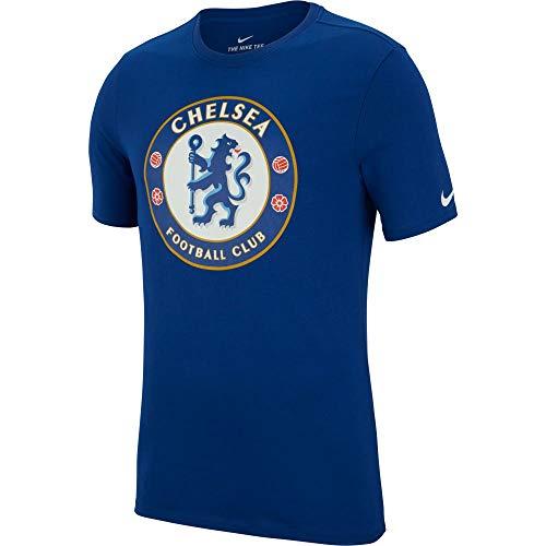 Nike Chelsea Fc Crest T-Shirt für Herren S Blau (Rush Blue)