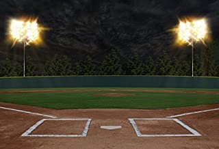 Laeacco Softball Diamond Photography Background 10x6.5ft Softball Field Grass Pitch Sport Spring Outdoors Game Match Scene Backdrop Studio Photographic Props