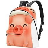 Petit Cochon avec Une Casquette Rouge de Noël Sac Teens Student Bookbag Sacs à bandoulière légers Sac à Dos de Voyage Sacs à Dos Quotidiens