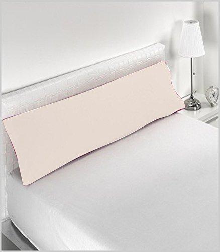 Miracle Home Housse de coussin douce et confortable en coton 50 % polyester Écru 90 cm