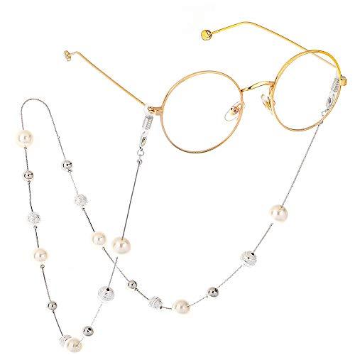 Collares para mujer Retro cadena de Gafas for mujer de la cadena collar de la correa Gafas de blanco moldeado con el sostenedor de la lente de la Cadena Para las gafas de la correa de gafas de lectura