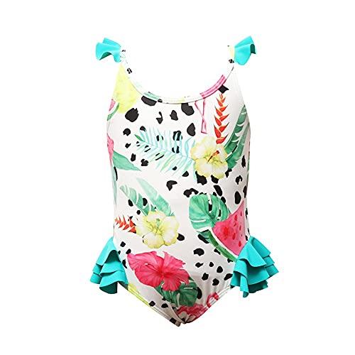 ReedG Chicas para niños Traje de natación Incluido Juego de Traje de baño de niñas Juego de Traje de baño de Playa de Verano Traje de baño de Bikini (Color : Multi-Colored, Size : 152CM)