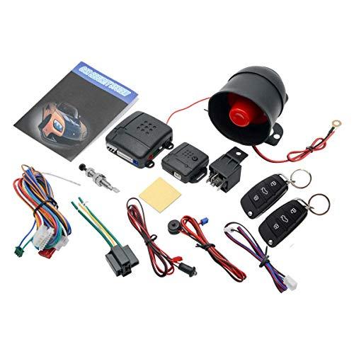 Style 18 - Serratura centrale universale per auto, con sensore di scossa + scatola di contorl + 2 telecomandi di ricambio per serratura centrale auto