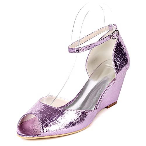 6.5cm Zapatos de Novia, Moda Temporada de Verano Cuña Sandalias Cómodo Material...