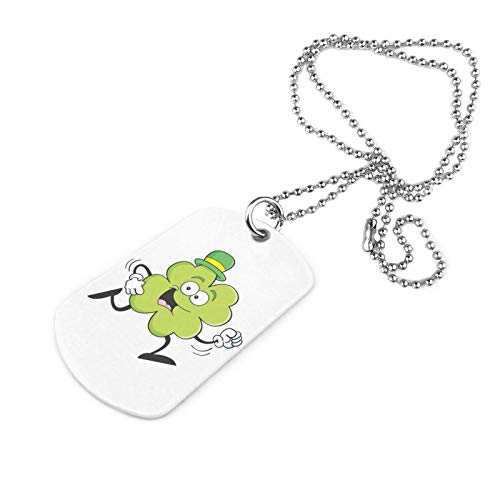 Cartoon Clover Military Necklace Decorative Pet Necklace Pendant Dog Tag