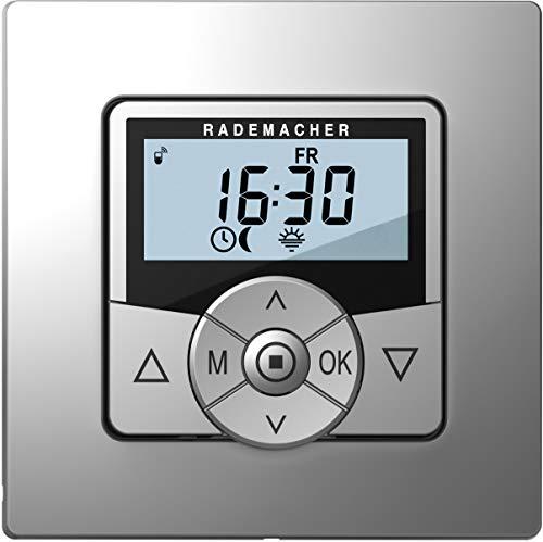 DuoFern HomeTimer 9498-AL (aluminium/grijs) – draadloze, batterij-aangedreven timer & centrale bediening voor rolluiken