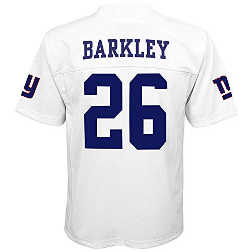Saquon Barkley New York Giants NFL Youth 8-20 White Color Rush Mid-Tier Jersey (Youth Large 14-16)