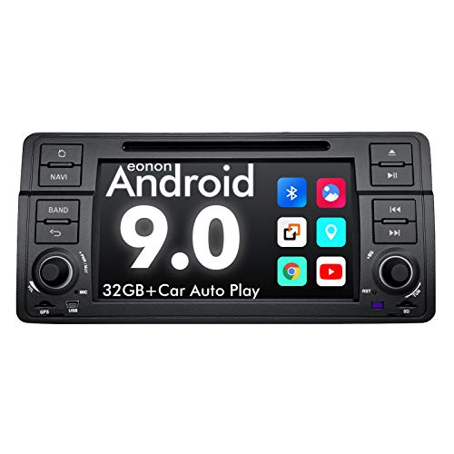 Android Car Stereo Double Din Car Stereo, Eonon Android 9.0 Car Radio Applicable to BMW 3 Series Android Head Unit Support Carplay/Android Auto/WiFi/Fast Boot/DVR/Backup Camera-7 Inch -GA9350