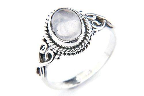 Ring Silber 925 Sterlingsilber Rosenquarz rosa Stein (Nr: MRI 42), Ringgröße:52