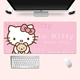 Mopoq Cartoon Hello Kitty Pink Mouse Pad Super Waterproof Sliding Girl Book Desktop Notebook Computer Pad (Color : 6)