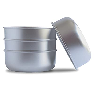 Basis Pet Made in The USA Stainless Steel Dog Bowl, Large (8 Cups), 4 Pack