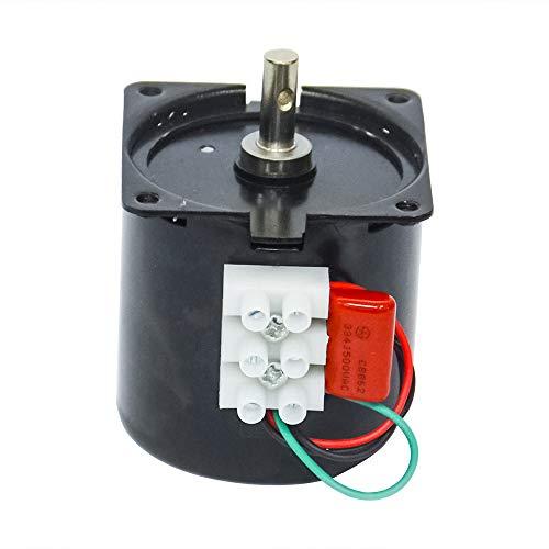 AC 220 V 14 W kleine elektrische aandrijfmotor instelbare permanente magneet synchroonmotor met laag toerental voor platenspeler rotisserie, AC 220 V, 2.5 RPM, 60