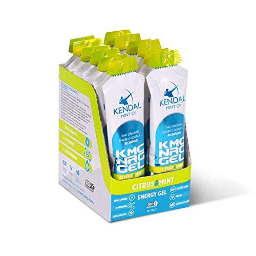 KMC NRG Gel: Refreshing Citrus & Mint Energy Gel (12 x 70g) by Kendal Mint Co.