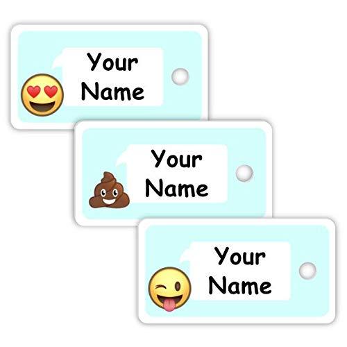 Etiquetas personalizadas impermeables para bolsas pequeñas, color Emoji