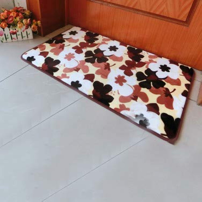 Carpet,Doormat Indoor mat Living Room Bedroom Rug Waterproof Carpet Stain Resistant-Brown E 20x47inch