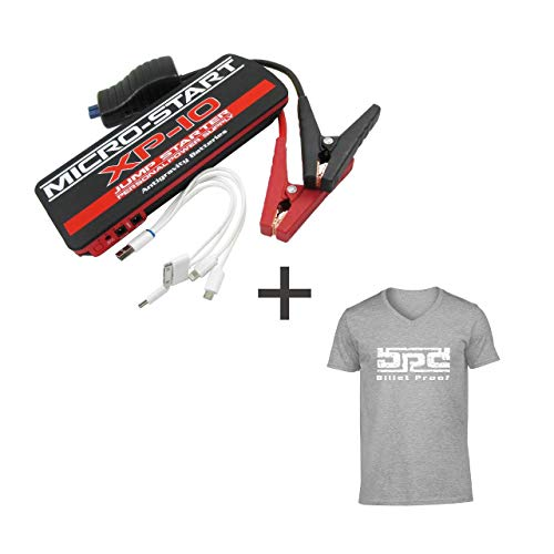 Buy Discount Micro-Start XP-10 Personal Jump Starter/Power Supply Bundle with Free T-Shirt! Newest M...