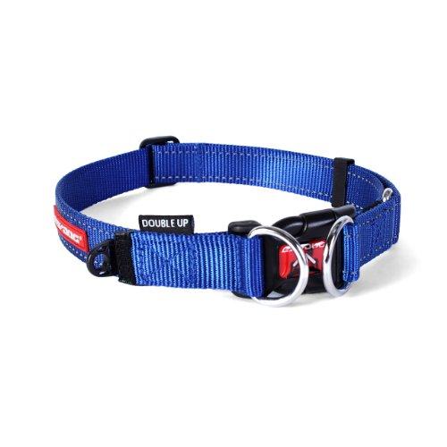EzyDog Double Up halsband, blauw, medium (29 cm-40 cm)