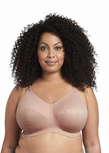 Goddess Women's Plus Size Celeste Soft Cup Full Coverage Wireless Comfort Bra, Fawn, 38J