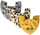 PIPPI Unisex Baby Bandana bib Uni Dreieckstücher, Mehrfarbig, One Size, 3er Pack