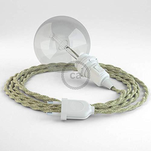creative cables Créez Votre Snake pour Abat-Jour Lin Naturel Neutre TN01 et apportez la lumière là où Vous Souhaitez. - 5 Mètres,