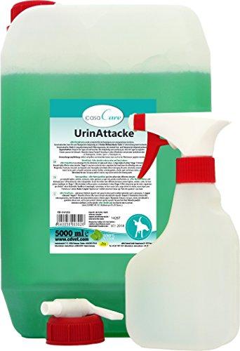 cdVet Naturprodukte - UrinAttacke / 302 - Bidon de produit anti-odeurs - Avec vaporisateur - 5000 ml