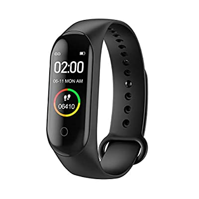 ANGS Fitness Tracker, Activity Tracker Watch with Heart Rate Monitor, IP67 Waterproof Smart Fitness Band with Step Counter, Calorie Counter, Pedometer Watch