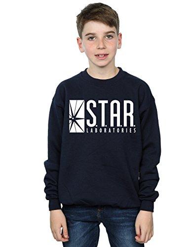 DC Comics Boys The Flash Star Labs Sweatshirt 9-11 Years Navy Blue
