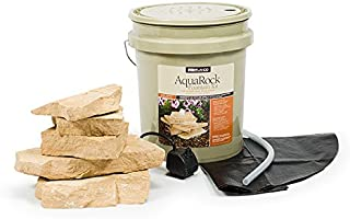 Aquascape AquaRock Water Fountain Kit for Landscape and Garden, Sandstone, Includes Real Stone, 5-Gallon | 97068