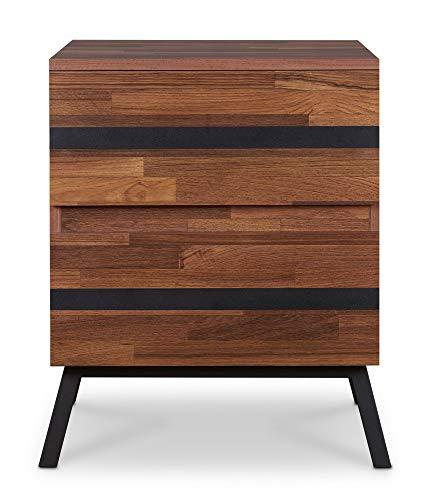 ACME Furniture Karine End Table, Walnut & Black