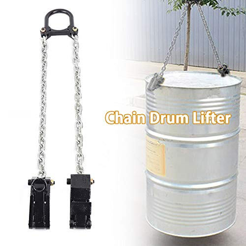TBVECHI Lifter 2000 lbs Chain Drum Lifter Fiber Durable Vertical Drum Lifter Multifunctional Lifting Clamp Black 1T