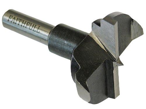 Faithfull - Broca para bisagras (35 x 60 mm, vástago de 8 mm, de acero con alto contenido en carbono)