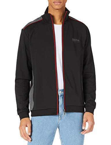 BOSS Tracksuit Jacket Chaqueta con Cremallera, Negro1, L para Hombre