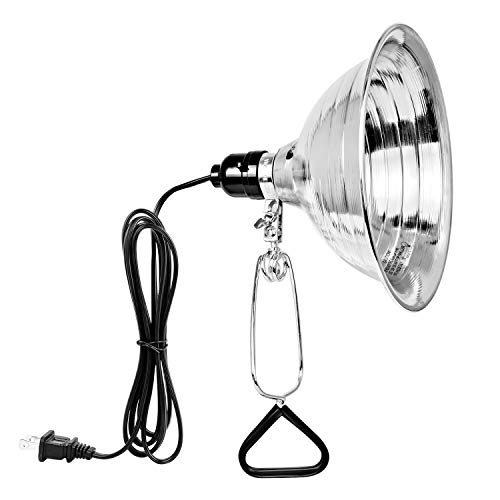 Simple Deluxe Clamp Lamp Light with 8.5 Inch Aluminum Reflector up to 150 Watt E26 (no Bulb Included) 6 Feet 18/2 SPT-2 Cord, 1-Pack, Silver and Black