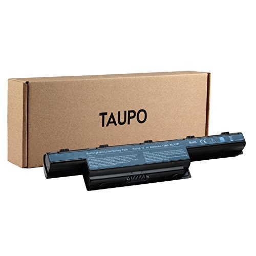 TAUPO 9-Cell AS10D31 Laptop Battery Compatible with Acer Aspire 4741 4750 E1-531 5253 5251 5250 5336 5349 5560 5551 5733Z 5733 5741 5742 5750 5735 5735Z 7741Z 7741 7750G -12Months Warranty