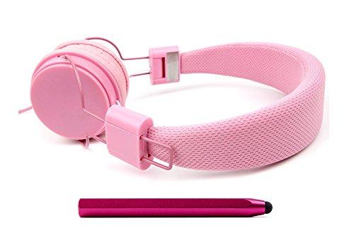 DURAGADGET Auriculares De Diadema Color Rosa + Lápiz Stylus En Color Rosa Fucsia Combinar con La Tableta Favorita De su Hijo!