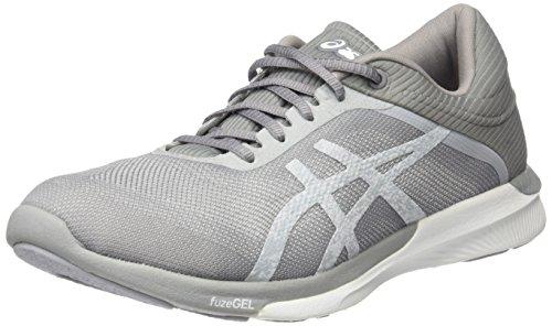 ASICS Damen Fuzex Rush Laufschuhe, Elfenbein (White/Silver/Mid Grey), 37 EU