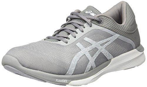 Asics Fuzex Rush, Zapatillas de Running para Mujer, Blanco (White/Silver/Mid Grey), 39 EU