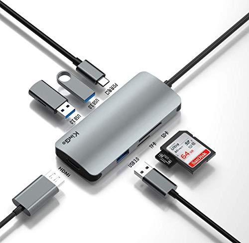 Adaptador Hub Macbook Pro/Air Usb C Tipo C USB3.0 Hdmi 4k Kingo T1015