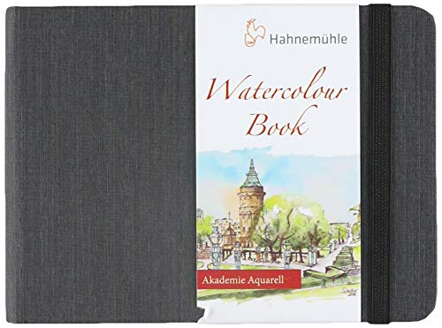 Watercolour Book 200 G/M2, Caderno Aquarela, Tam A6 Paisagem, 30 Fls, Hahnemuehle