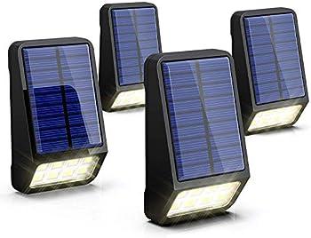 4-Pack Lohas Solar Fence Post IP65 Waterproof LED Lights