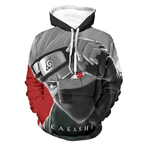 Kakashi - Sudadera con capucha unisex para hombre, ligera, de secado rápido, varios colores, con bolsillos, ropa deportiva