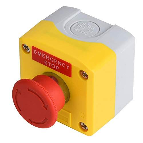 Interruptor de parada de emergencia, botón de emergencia, componentes de control industrial de 22 mm para máquinas herramienta CNC, suministros industriales, maquinaria