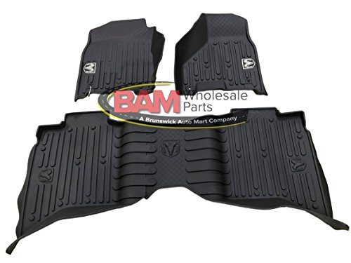 2013-2017 Dodge Ram Crew Cab Black High Wall All Weather Floor Mats OEM Mopar