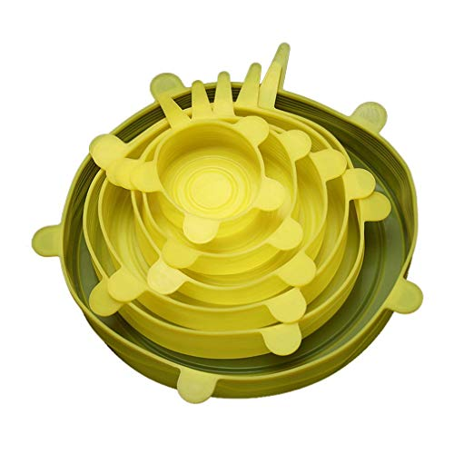 HehiFRlark Couvercle en Silicone Alimentaire couvercles en Silicone universels pour ustensiles de Cuisine Bol Pot couvercles Extensibles réutilisables Accessoires de Cuisine