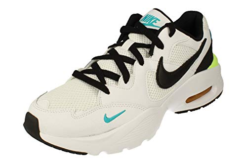 Nike Air MAX Fusion Hombre Running Trainers CJ1670 Sneakers Zapatos (UK 8 US 9 EU 42.5, White Black Oracle Aqua 103)