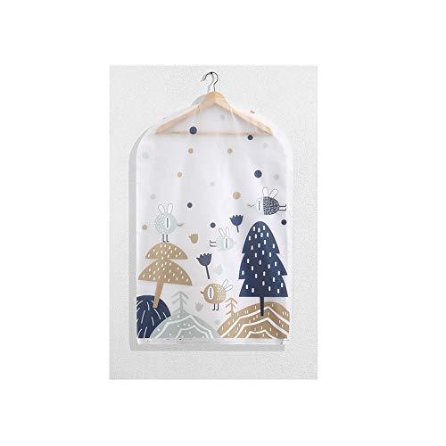 Bonmp PEVA Printing stofdichte vochtbestendige kledinghoezen wasbare kledingzakken voor pakken jasjes T-shirt sportmantels