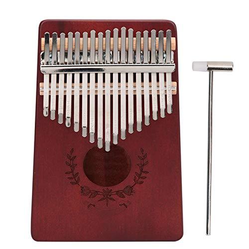 Piano de pulgar Kalimba de 17 teclas, Piano de pulgar Kalimba de caoba Pequeño portátil de 17 teclas para instrumento de música para principiantes LT-K17S((Café))